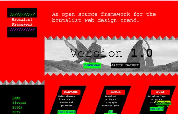 粗野主义设计在网页设计中的应用a